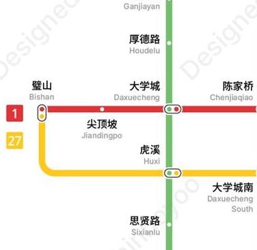 大学城轨道交通规划图