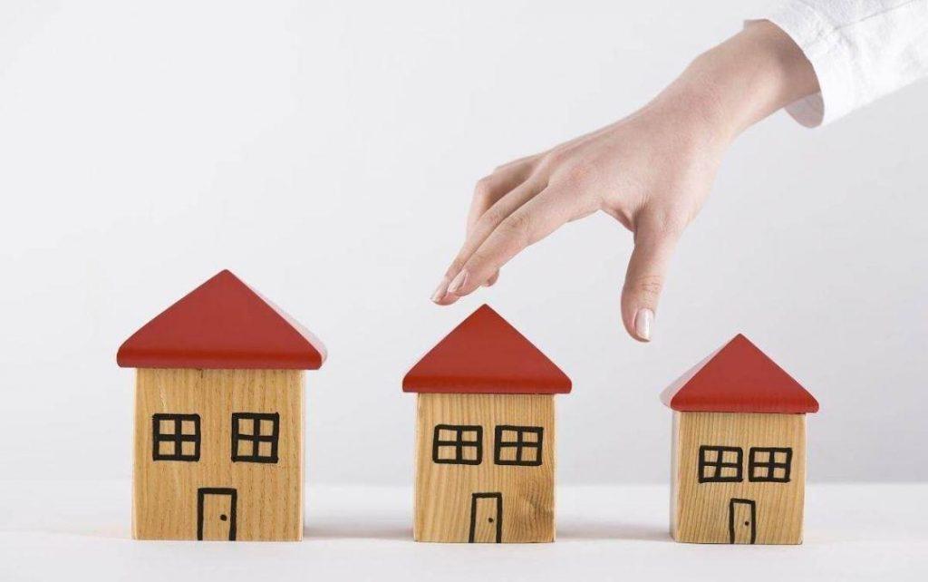 房屋交易增值税创意图