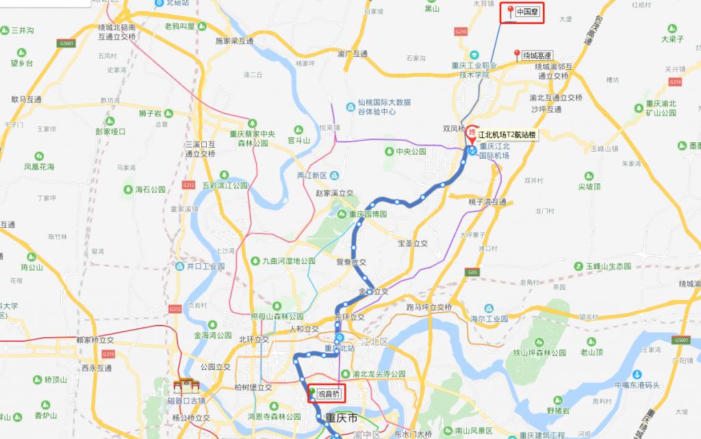乘坐地铁从小什字到中国摩的路线图