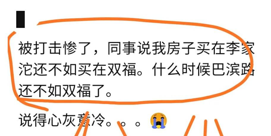 网友评论说李家沱的房子不如双福