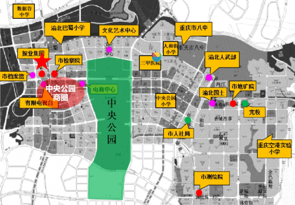 中央公园规划图